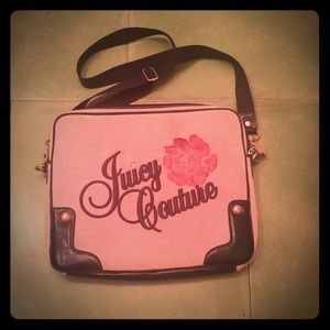 Juicy couture pink laptop case